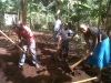 Some of the Tuleeni children helping clear the land.